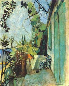 The Terrace, Saint-Tropez by Henri Matisse, 1904