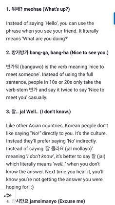 some basic Korean phrases Korean Words Learning, Korean Language Learning, Learning Spanish, Korean Slang, Korean Phrases, How To Speak Korean, Learn Korean, Language Study, Learn A New Language