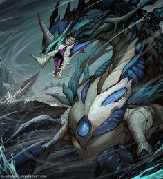 Artist: Mauricio Herrera aka el grimlock - Title: oceanic dragon adv - Card: Unknown