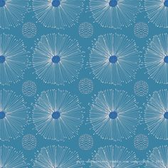 blue abstract floral pattern