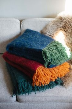 Luxurious Lapuan Kankurit mohair blankets from Finland are ultra soft and warm. Perfect for cold nights.