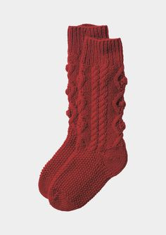 ARAN KNIT HOUSE SOCK | TOAST  @Sarah Edwards please make these for me
