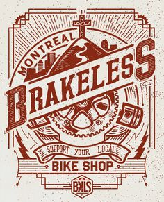 BRAKELESS - IDLEHAND - tees shirt design by MEKA , via Behance