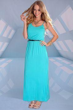 Pretty maxi dress, summery color!