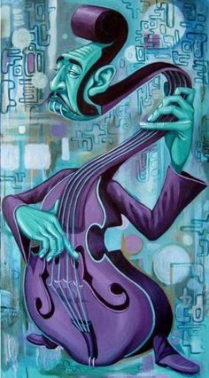 psychedelic art - The Hitman 14 - Tasha W Psychedelic Art, Art Visionnaire, Jazz Art, Music Artwork, Music Painting, Art Original, Art Et Illustration, African American Art, Visionary Art