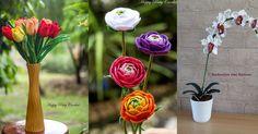 Bloemen in huis daar worden we allemaal vrolijk van. Toch hebben die prachtige bloemen geen eeuwig leven en moeten ze snel vervangen worden. Gehaakte bloemen daarentegen bieden daarin een leuke uitkomst. Ze zien er vrolijk uit, ze komen in alle kleuren en soorten en hebben geen water nodig. Bekijk ze alle 9! Patroon(klik) Delen BewaarRead More