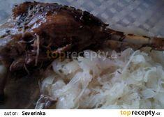 Husička v pomalém hrnci recept - TopRecepty.cz Slow Cooker, Grains, Rice, Meat, Chicken, Food, Essen, Meals, Crock Pot