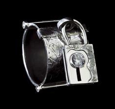 Bracelet   by Horsecka Jewelry. Oxidized sterlig silver, zircon. #jewelry #jewellery #horsecka #annahorsecka