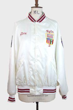 1930s Satin Baseball Varsity Jacket @somebodyandsons | Vintage ...