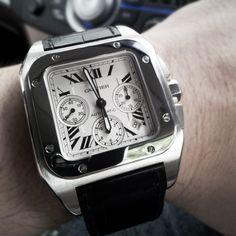 Cartier Santos 100 XL Steel Chronograph