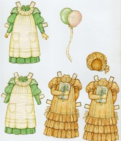 Gingham? Paper doll