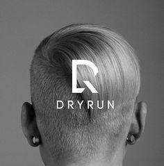 DRYRUN #logo by Shou-Wei Tsai Typography Logo, Logo Branding, Logo Inspiration, Brand Identity Design, Branding Design, Brand Icon, Construction Logo, Monogram Logo, Creative Logo