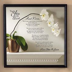 "Personalized ""To You with Love"" Unframed Canvas Wall Decor, 16"" x 16"", Available in 2 Styles"