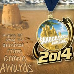#HappySummer from Crown Awards! May your cookouts be yummy and your sandcastles built to last! http://www.crownawards.com/StoreFront/CM1114RG.ALL.Medals-Dogtags.2014_Medal.prod