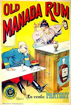 'Old Manada Rum' - A4 Glossy Print Taken From A Wonderful Vintage Product Ad by Design Artist http://www.amazon.co.uk/dp/B00Q5UVI0A/ref=cm_sw_r_pi_dp_Tp2rvb0PT039X