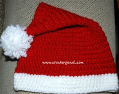 Crochet Toddler Santa Hat If you tell others about my work, please only link back to my blog, but don't copy my patterns to your site. Also you can sell anything you make from my patterns, but don't sell the free pattern. Thank you! I made this Santa hat for my 1 year old. Her head measure around