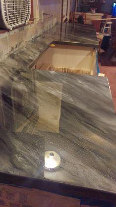 stone Coat Countertop epoxy Stone Coat Countertop, Diy Concrete Countertops, Outdoor Kitchen Countertops, Diy Kitchen Cabinets, Painting Kitchen Cabinets, Kitchen Ideas, Kitchen Furniture, Kitchen Counters, Quartz Countertops