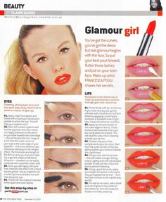 Step-By-Step Eye Makeup Tutorials: Glamour makeup by Claire Daviece in the The Sunday Times Pale Skin Makeup, Dark Eye Makeup, Blue Makeup, Makeup For Brown Eyes, Makeup Art, Makeup Tips, Beauty Makeup, Makeup Tutorials, Evening Eye Makeup