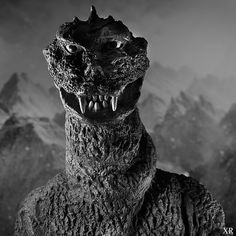 "xamfra: ""The versatile Godzilla as 'Gigantis, the Fire Monster', "" Godzilla Raids Again, Famous Monsters, Classic Monsters, Vintage Horror, Weird Creatures, King Kong, Retro Futurism, Classic Movies, Horror Movies"