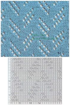 Knit lace chart pattern