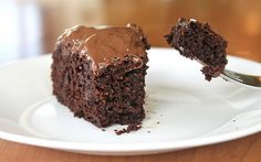 Secretly Healthy Chocolate Cake (with fruit, veggies and whole wheat flour - only 100 calories per serving!)