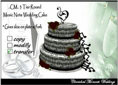 Beautiful music note cake.♥
