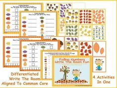 Planning Autumn Math Stations - Differentiated Kindergarten Differentiated Kindergarten, Kindergarten Teachers, Teaching Math, Teaching Ideas, Autumn Activities, Kindergarten Activities, Preschool, Math Manipulatives, Classroom Inspiration