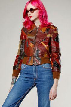 Vintage 70s Patchwork Leather Bomber Jacket #70s #leather #vintage #thriftedandmodern
