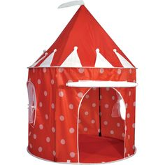 Adventurous kids will love playing in this Polka Dot Pop Up Play Tent. Ideal for playing in the garden.