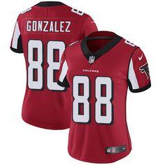 98d661fa9 Nike Falcons  88 Tony Gonzalez Red Team Color Women s Stitched NFL Vapor  Untouchable Limited Jersey