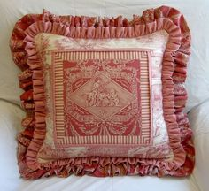 Adorable pillow from WORKROOM INTELLIGENCE - French Country Family Room