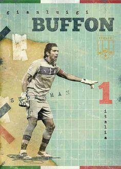 Gianluigi Buffon of Italy wallpaper.