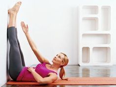Do this for 2 weeks and watch your tummy and thighs shrink...and all you need is a wall and a yoga mat!
