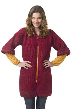 """Free pattern for this """"Autumn Tunic Coat""""...looks cozy!"""