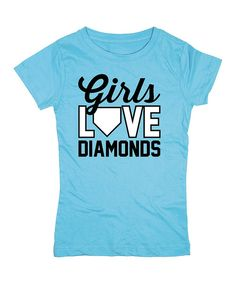 Take+a+look+at+the+Aqua+'Girls+Love+Diamonds'+Fitted+Tee+on+#zulily+today!