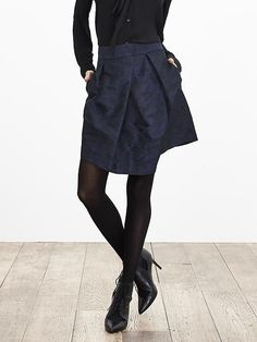 love the asymmetrical hem and subtle camo pattern (its a bit too short for me I think though) -->  Blue Camo Asymmetrical Skirt