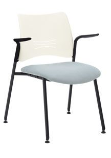 Encore - Nexxt, stackable side chair with glides