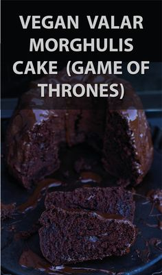 vegan Valar Morghulis cake - death by chocolate (Game of Thrones party) / Veganer Valar Morghulis Kuchen