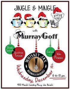 Come celebrate the season at Whiskey Jax Beaches Wednesday night December 14th from 6:00 - 10:00pm. #livemusic #pianoman #jaxbeach #tistheseasontobejolly