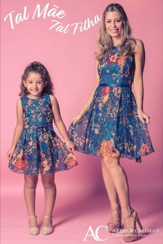 """""""Mommy and Me in special dresses. Mom Daughter Matching Outfits, Mommy Daughter Dresses, Mom And Baby Outfits, Mother Daughter Fashion, Girl Outfits, Girls Dresses, Flower Girl Dresses, Most Beautiful Dresses, Toddler Fashion"""