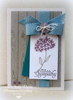 Stampin' Up! by White House Stamping: Simple Stems Sympathy