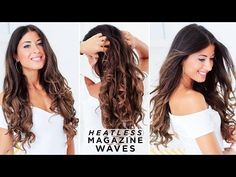 In this post, we share with you 7 different ways to get heatless curls. If you're guilty of over-using hot styling tools to curl your hair, read this post! Hairstyles For Layered Hair, Easy And Beautiful Hairstyles, Easy Everyday Hairstyles, Curled Hairstyles, Hairdos, Curly Hair Overnight, Overnight Braids, Overnight Waves, Everyday Curls
