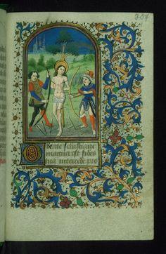 Book of Hours St. Sebastian Walters Manuscript W.204 fol. 254r by Walters Art Museum Illuminated Manuscripts