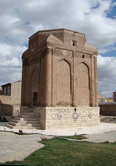 Tower of Gonbade Sorkhe Maragheh . It is a part of observatory of Maragheh. Planet Earth, Mount Rushmore, Planets, Tower, Mountains, Architecture, Nature, Travel, Iran