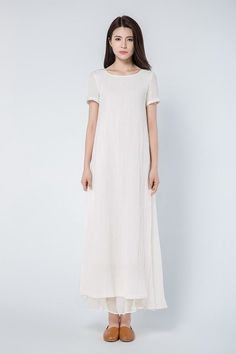 bedb71cf6cf Maxi dress linen dress plus size dress woman dress loose
