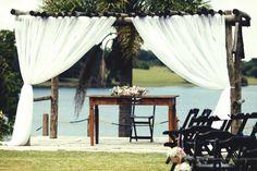 altar do casamento na Laggus residencial nautico. Foto Nina Vilas Boas Fotografia