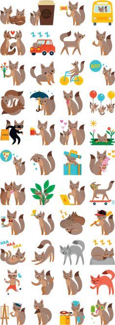 foxes sticker - Pesquisa do Google