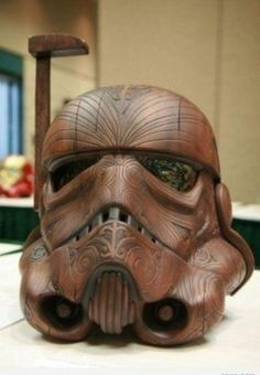 Carved Starship Trooper Helmet