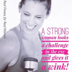 Say hell yeah!!!!!!!! Am I going to let a challenge stop me from achieving my goal? Not today ;)