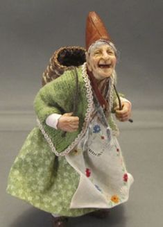 A cheerful sprite, 1/12 scale doll by Jeanne Rullie, dealer at the 2013 Guild Show.